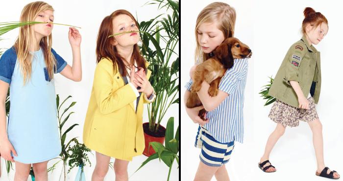 Moda zara para niños primavera-verano