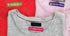 Etiquetas para ropa pequeñas