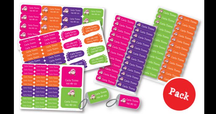 Pack etiquetas personalizadas