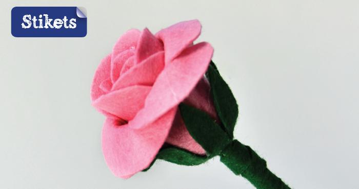 Como Hacer Rosas De Fieltro Stikets Family