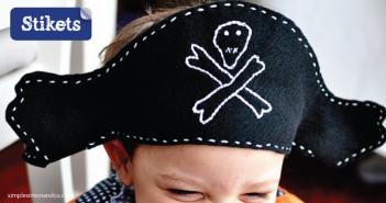 Cómo hacer un disfraz de pirata. Gorro