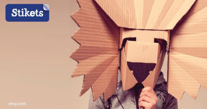 Mascaras de cartón.león