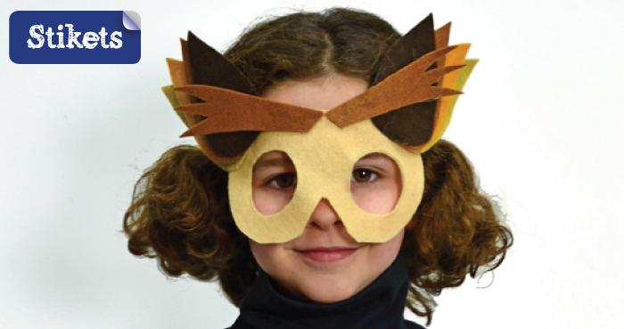 Cómo hacer un disfraz de búho. Máscara