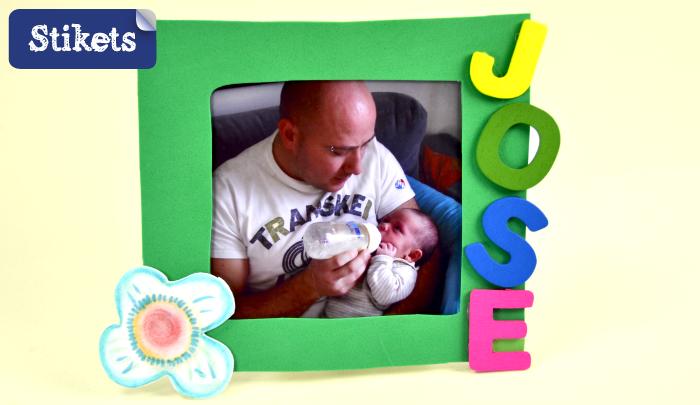 Manualidad De Goma Eva Marco Para Dia Del Padre Stikets Family