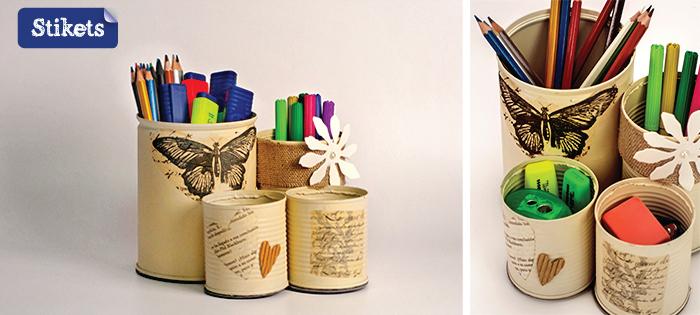 Manualidades con latas recicladas regalos para profes stikets blog - Manualidades recicladas para decorar ...