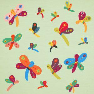 Vinilo infantil de mariposas