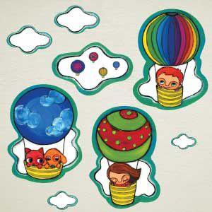 Vinilo infantil de globos