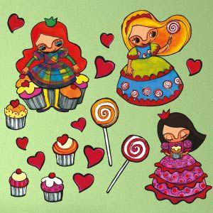 Vinilo princesas y cupcakes
