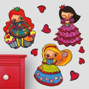 Vinilo princesas y cupcakes 3