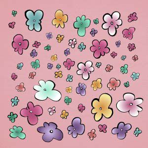 Vinilo flores de colores