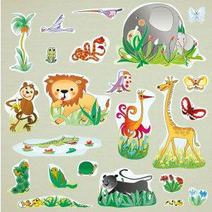 Vinilo animales de la jungla