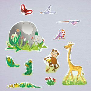 Vinilo animales de la jungla 2