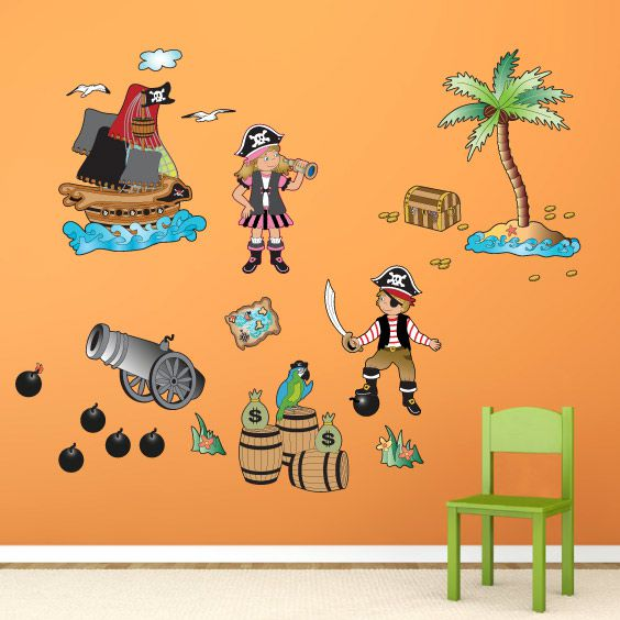 Vinilo de piratas con nombre