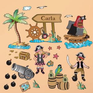 Vinilo barco pirata personalizable