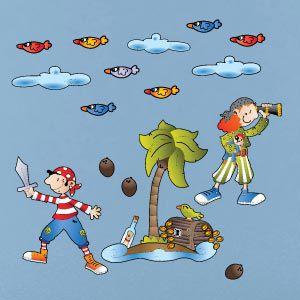 Vinilo piratas en la isla