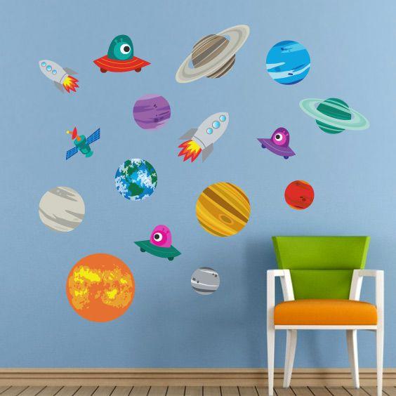 Vinilo de planetas con nombre