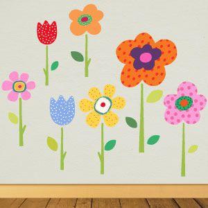 Vinilo de flores de primavera