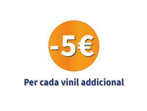 5€ de descompte cada vinil adicional