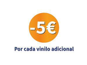 5€ de descuento cada vinilo adicional
