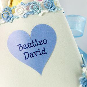 Etiquetas para detalles y regalos de Bautizos