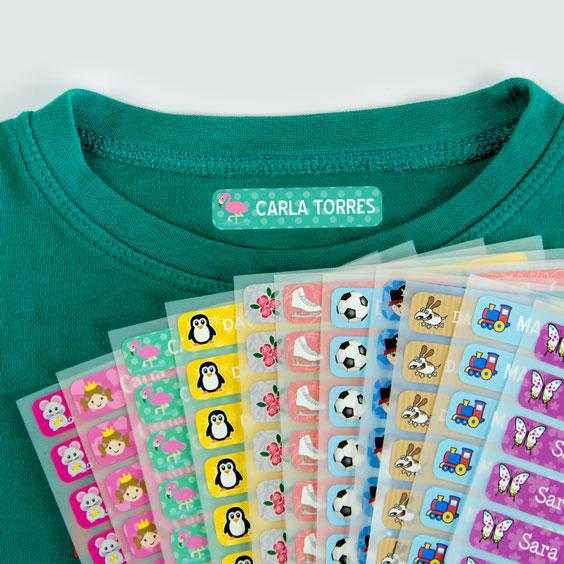 Etiquetes per a marcar la roba petites
