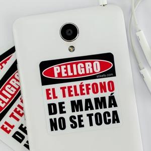 Pegatina danger para móvil