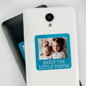 Pegatinas con foto y marco para móvil (8-16 uds)