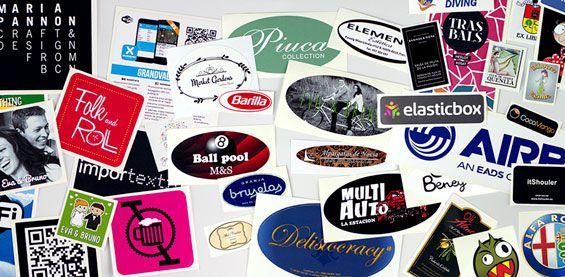¡Crea pegatinas con tu logo o diseño!